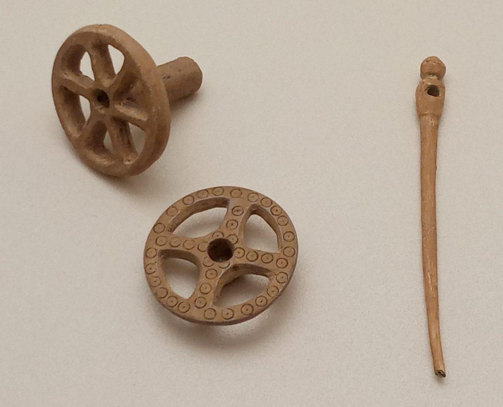 Piacenza Museum Bronze Age whorls